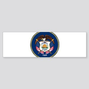 Utah State Flag Seal Bumper Sticker